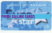 EUROSTAR £5 phone card cover