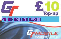 GT MOBILE  TOP UP £10