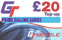 GT MOBILE  TOP UP £20
