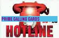 HOTLINE £5 phone card cover