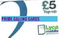 LYCA MOBILE TOPUP £5 phone card cover