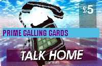 TALK HOME £5 phone card cover