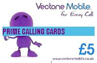 VECTONE MOBILE TOP UP  £5