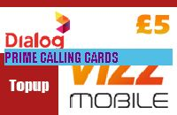 VIZZ MOBILE TOP UP £5