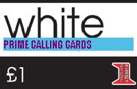 WHITE £1 phone card cover