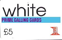WHITE £5 phone card cover